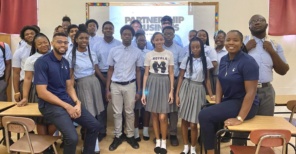 Tahirah and Gino hold Entrepreneurship Workshop with 6th form students in 2020